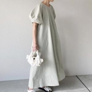 ワンピース ロングワンピース コットン リネン 体型カバー ロング丈 大きいサイズ ゆったり 着痩せ 綿麻風 Aライン おしゃれ 30代 40代 50代 夏 秋|glanz-shop