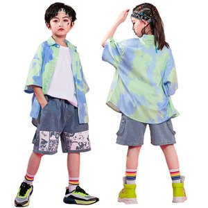 キッズ ダンス 衣装 トップス シャツ パンツ キッズダンス衣装 男の子 女の子 子供服 ヒップホップ おしゃれ キッズダンス 衣装|glanz-shop
