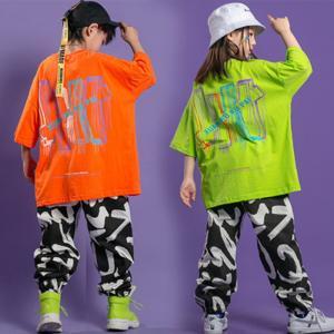 キッズ ダンス 衣装 トップス tシャツ パンツ キッズダンス衣装 男の子 女の子 子供服 ヒップホップ おしゃれ|glanz-shop