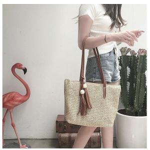 ショルダーバッグ レディース 草編みバッグ かばん 麦わら 鞄 かごバッグ 女性 肩掛け トートバッグ 手提げ オシャレショルダーバッグ 韓国風|glanz-shop