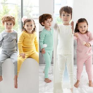 パジャマ こども 女の子 男の子 長袖 部屋着 キッズ ルームウェア 子供服  シンプル 腹巻付き腹...