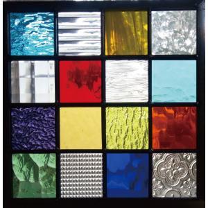 ステンドグラスパネル デザインガラス インテリア 建具 窓 オーダーメイド NO16|glass-artk