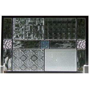 ステンドグラスパネル デザインガラス インテリア 建具 窓 オーダーメイド NO17|glass-artk