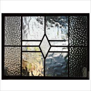 ステンドグラスパネル デザインガラス インテリア 建具 窓 オーダーメイド NO18|glass-artk