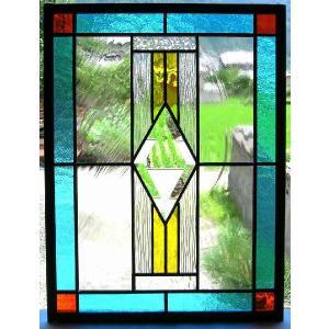 ステンドグラスパネル デザインガラス インテリア 建具 窓にオーダーメイド NO2|glass-artk