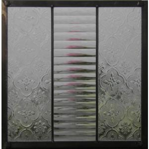 ステンドグラスパネル デザインガラス インテリア 建具 窓 オーダーメイド NO10|glass-artk
