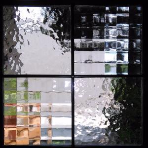 ステンドグラスパネルデザインガラス インテリア 建具 窓にオーダーメイド NO7|glass-artk