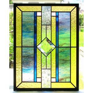 ステンドグラスパネル デザインガラス インテリア 建具 窓にオーダーメイド NO1|glass-artk