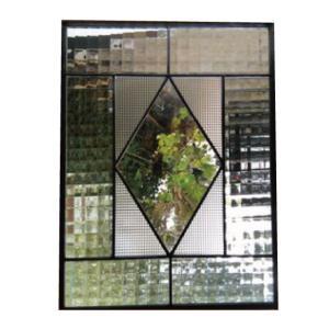 ステンドグラスパネル デザインガラス インテリア 建具 窓にオーダーメイド NO8|glass-artk