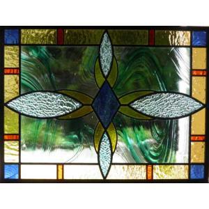 ステンドグラスパネル デザインガラス インテリア 建具 窓にオーダーメイド NO4|glass-artk