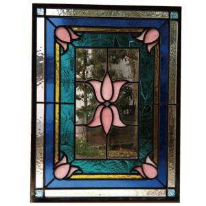 ステンドグラスパネル デザインガラス インテリア 建具 窓にオーダーメイド NO5