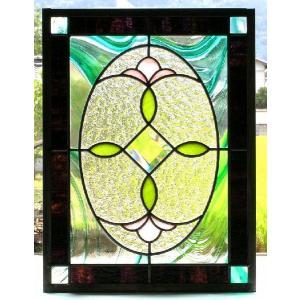 ステンドグラスパネル デザインガラス インテリア 建具 窓にオーダーメイド NO6|glass-artk