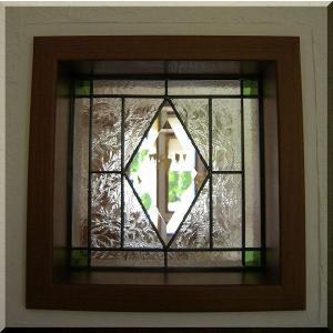 ステンドグラスパネル デザインガラス インテリア 建具 窓にオーダーメイド ベベル1|glass-artk