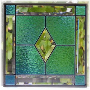 ステンドグラスパネル デザインガラス インテリア 建具 窓にオーダーメイド ベベル2|glass-artk