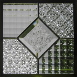 ステンドグラスパネル デザインガラス インテリア 建具 窓 オーダーメイド NO12 glass-artk