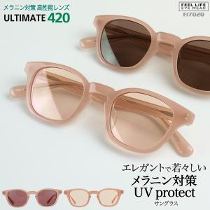 サングラス レディース UVカット おしゃれ ボストン UV400 セルフレーム 紫外線対策 女性用 美肌ケア UV420 薄い色  FI7020|glass-garden