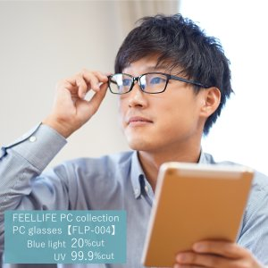 ブルーライトカット 眼鏡 おしゃれ メンズ レディース PCメガネ スクエア 軽量 新素材 TR-90 弾性樹脂 軽い 伊達メガネ flp-004|glass-garden
