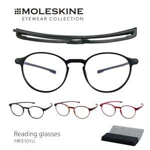 老眼鏡 モレスキン おしゃれ  レディース MOLESKINE 女性用 薄型 携帯  ボストン シニアグラス リーディンググラス ブラック べっこう柄 MR3101U|glass-garden