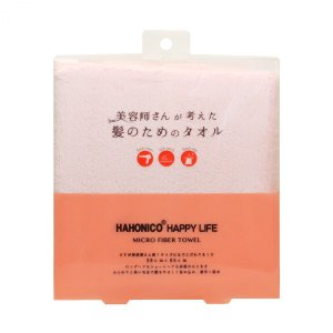 【商品名】ハホニコ ヘアドライタオル マイクロファイバー ピンク 【サイズ】W38 × H85 CM...