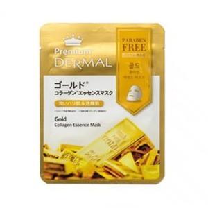 ダーマルプレミアム コラーゲンエッセンスマスク DP04 ゴールド 25ml × 1枚 (スキンケア用シートマスク)|glass-oner