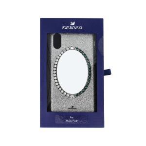 スワロフスキー SWAROVSKI #5504674 BLACK BAROQUEスマートフォンケース #ブルー I-PHONE XR用 (iPhone用ケース) glass-oner