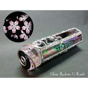 ・作品はステンドグラスのオイルチェンバー3ミラータイプの万華鏡です。  ・桜の花びらの映像でお楽しみ...