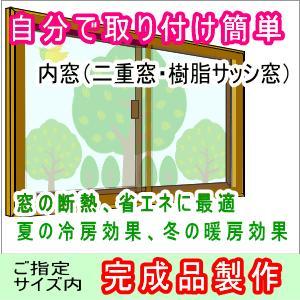 二重窓/簡易内窓/イージーウインドウ高さ1001〜1450mm 幅1500〜1830mm/ご指定サイズ完成品製作【キャンペーン】|glass-safe