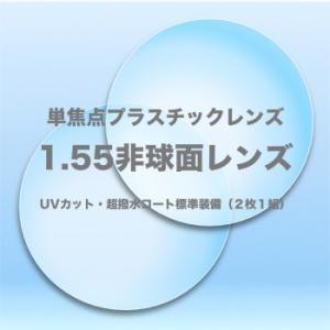1.55非球面プラスチック単焦点レンズ(2枚1組)