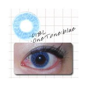 カラコン カラーコンタクトレンズ 度なし 1ヶ月 ワントーンブルー 1箱2枚入|glasscore