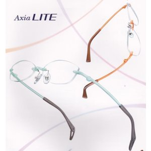 遠近両用 メガネ 中近 近々 選べる累進レンズセット ふちなし 軽量 アクシアライト エアリスト 遠近両用 1.6薄型レンズ付き glasscore