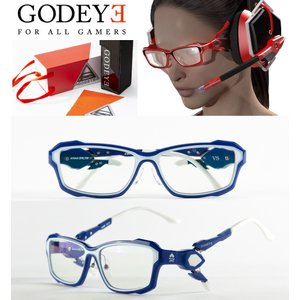 メガネ 度なし ゲーミングメガネ パソコン ゲーム アイウェア GODEYE 紫外線カット ブルーカット ゴッドアイGE-01BL 度付き対応可 Eスポーツ|glasscore