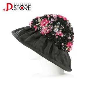 ドリーム プロイデア 有松絞りのふんわり花柄帽子 glassgow