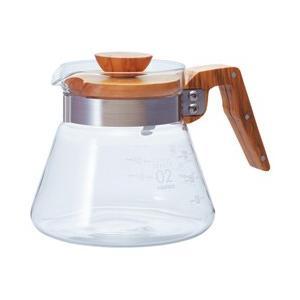 フタと取っ手がオリーブウッド素材でできたコーヒーサーバー。くつろぎのコーヒータイムをおしゃれに演出。...