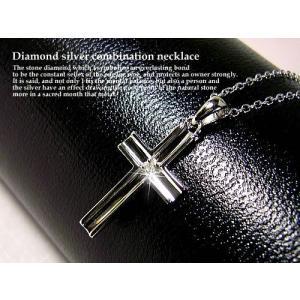 天然ダイヤモンド入りシルバー925製ネックレス/天然ダイヤモンド0.01ct|glasshouseyumekoubou|02