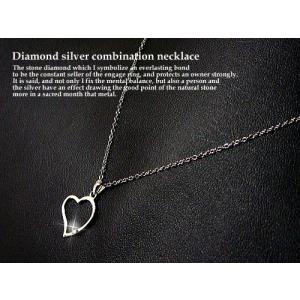 天然ダイヤモンド入りシルバー925製ネックレス/天然ダイヤモンド0.01ct|glasshouseyumekoubou|04
