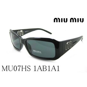 ミュウミュウ サングラス MU07HS 1AB1A1|glassmania