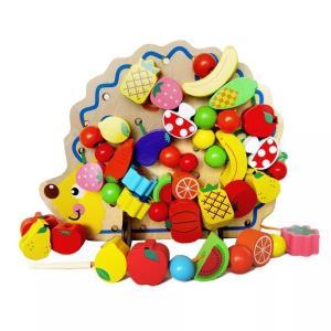 YA-0000892 知育玩具 紐通し ひもとおし おもちゃ 知育 木製