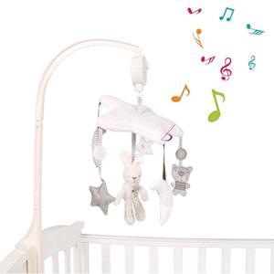 ベッドメリー 赤ちゃんおもちゃ ベッドベル ベビー 可愛い動物 柔らかい ぬいぐるみ 五角星