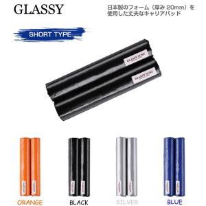 ブランド:GLASSY(グラッシー) モデル:キャリアパッド ショートタイプ カラー:ブラック/シル...