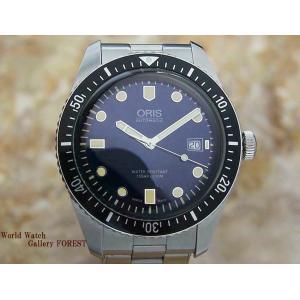 仕上げ済み オリス ORIS ダイバーズ65 42mm ブルー 自動巻き 中古 メンズ腕時計