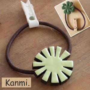 ウッドエポヘアゴム【Kanmi.】/日本製 glencheck