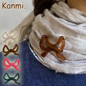 Kanmi. リボンブローチ/日本製 glencheck