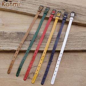 Kanmi. coco watch ポルテ・ソラ・ホシ用 時計ベルト 7mm/リンネル掲載/日本製/腕時計/ウォッチ glencheck
