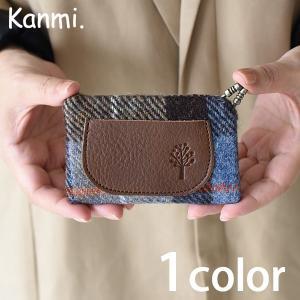 Kanmi. /カンミ ハリスツイード L型 カードケース グレンチェック取扱店限定商品 レディース 本革 レザー ナチュラル ギフト かわいい 日本製 スタッフおすすめ|GLENCHECK