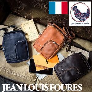 フランス製カーフ2WAY ショルダーバッグ/JEAN LOUIS FOURES/ジャンルイフレ/本革 牛革 カーフレザー/かばん グレンフィールド|glencheck