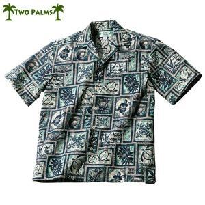 アメリカ製ハワイアンシャツ/アロハ/カメ/ブルー グレンフィールド|glencheck