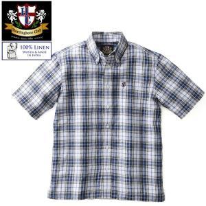 リネンマドラスチェックシャツ グレンフィールド|glencheck