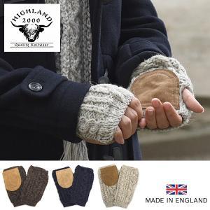 英国羊毛公社認定ウール使用 HIGHLAND2000/ハイランド2000 英国製グローブ(ミトン)(ケーブル編み) グレンフィールド glencheck