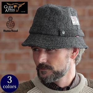 ハリスツイード ハット 英国製 HARRIS TWEED 帽子 GLEN APPIN グレンアピン セール対象 GLENCHECK