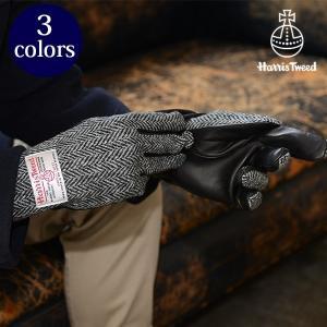 ハリスツイード/HARRIS TWEED 手袋 メンズグローブ/シープスキン 羊革 本革 グレンフィールド glencheck